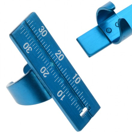 Regla Endo Aluminio azul